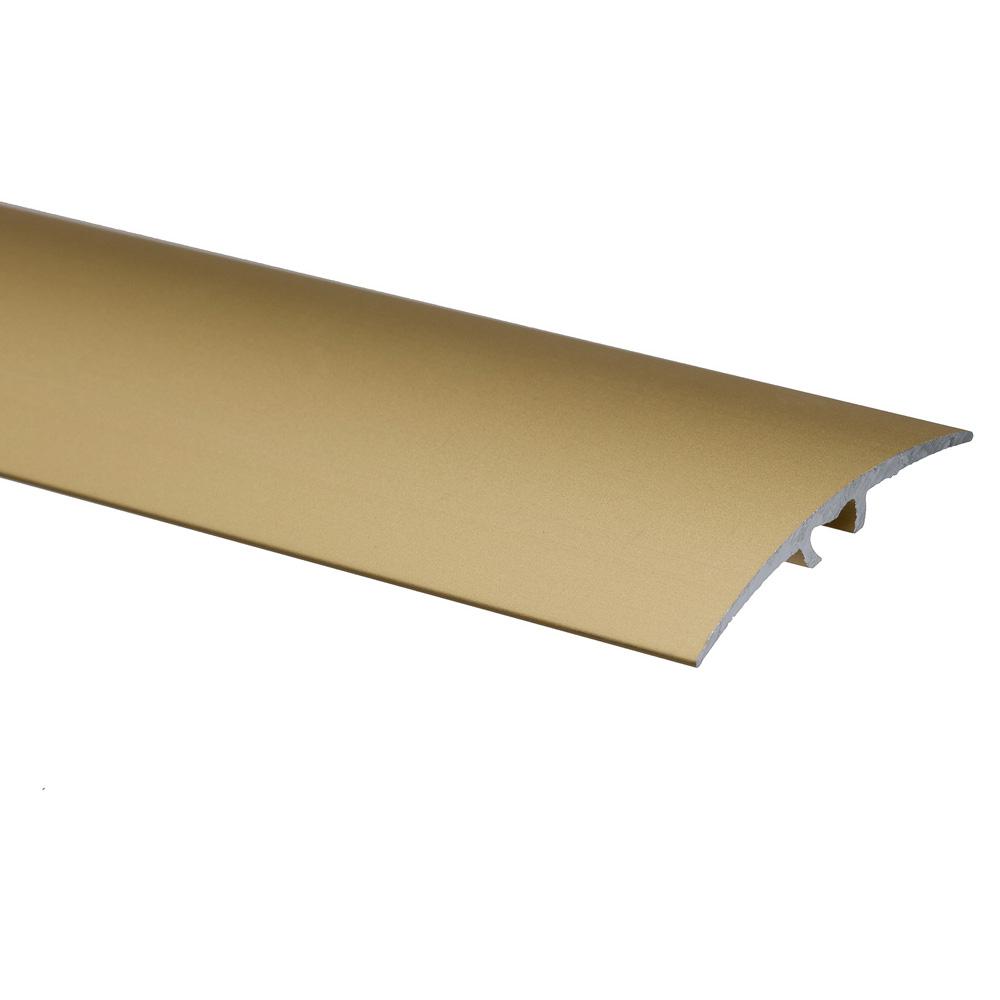 Profil de trecere cu surub mascat S64, fara diferenta de nivel, Effector, aur, 2,7 m imagine MatHaus.ro