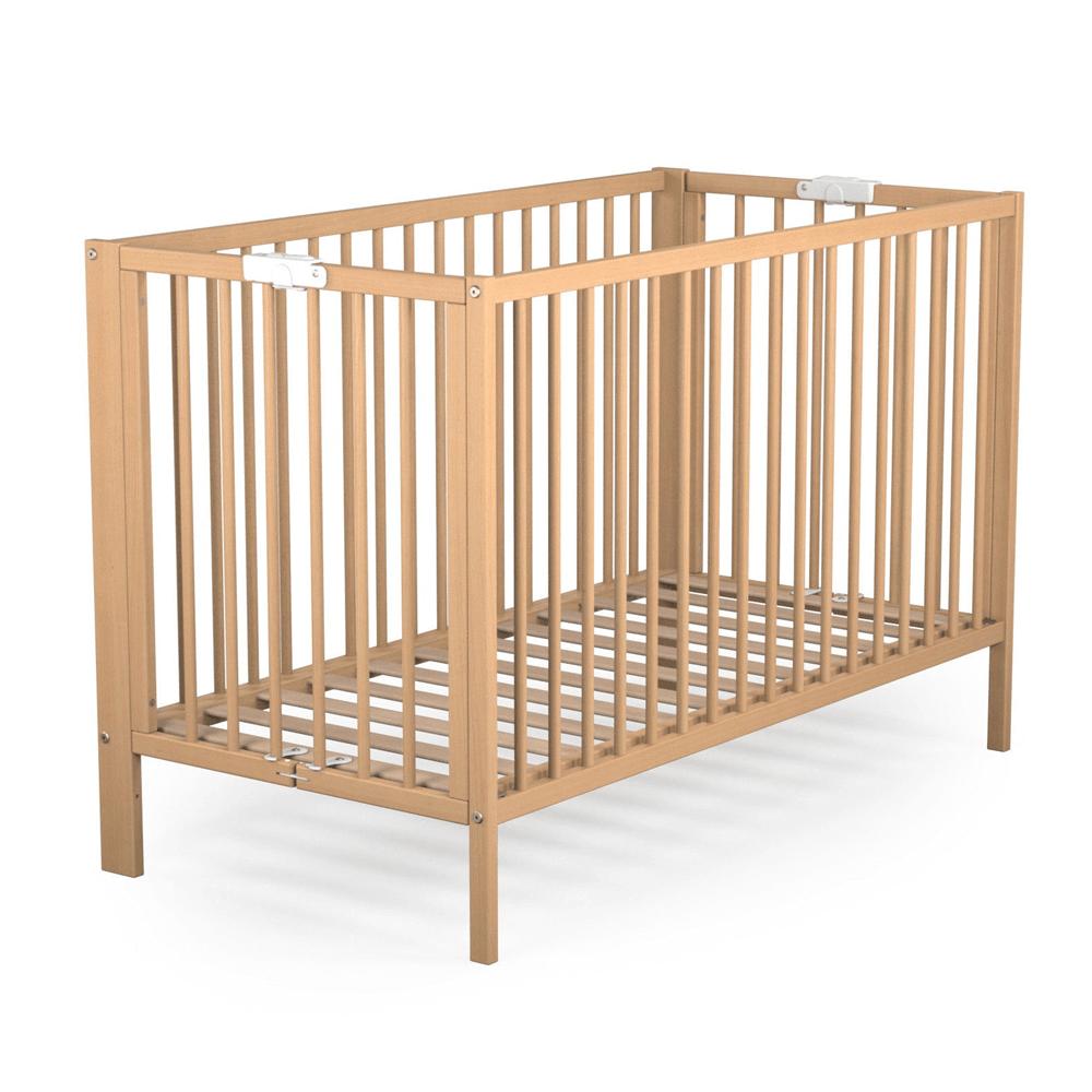 Patut pliabil lemn pentru copii, kit 124 x 64 x 82 cm imagine MatHaus.ro