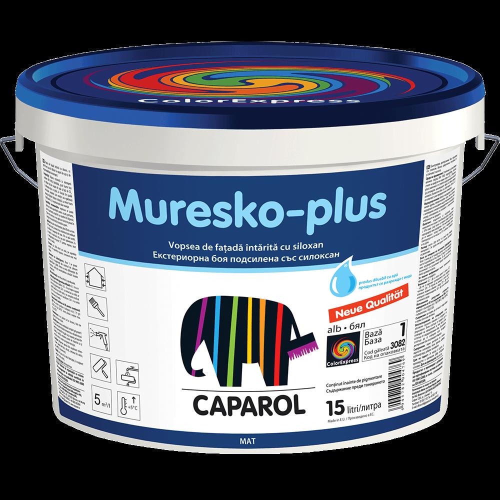Vopsea lavabila Muresko Plus Baza 1, interior, alba, 15 L