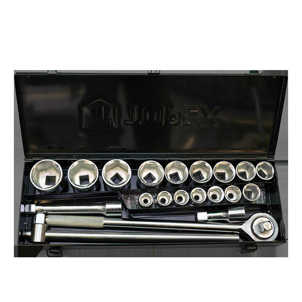Trusa de chei tubulare 3/4  si accesorii Topex 38D296, 20 piese imagine 2021 mathaus