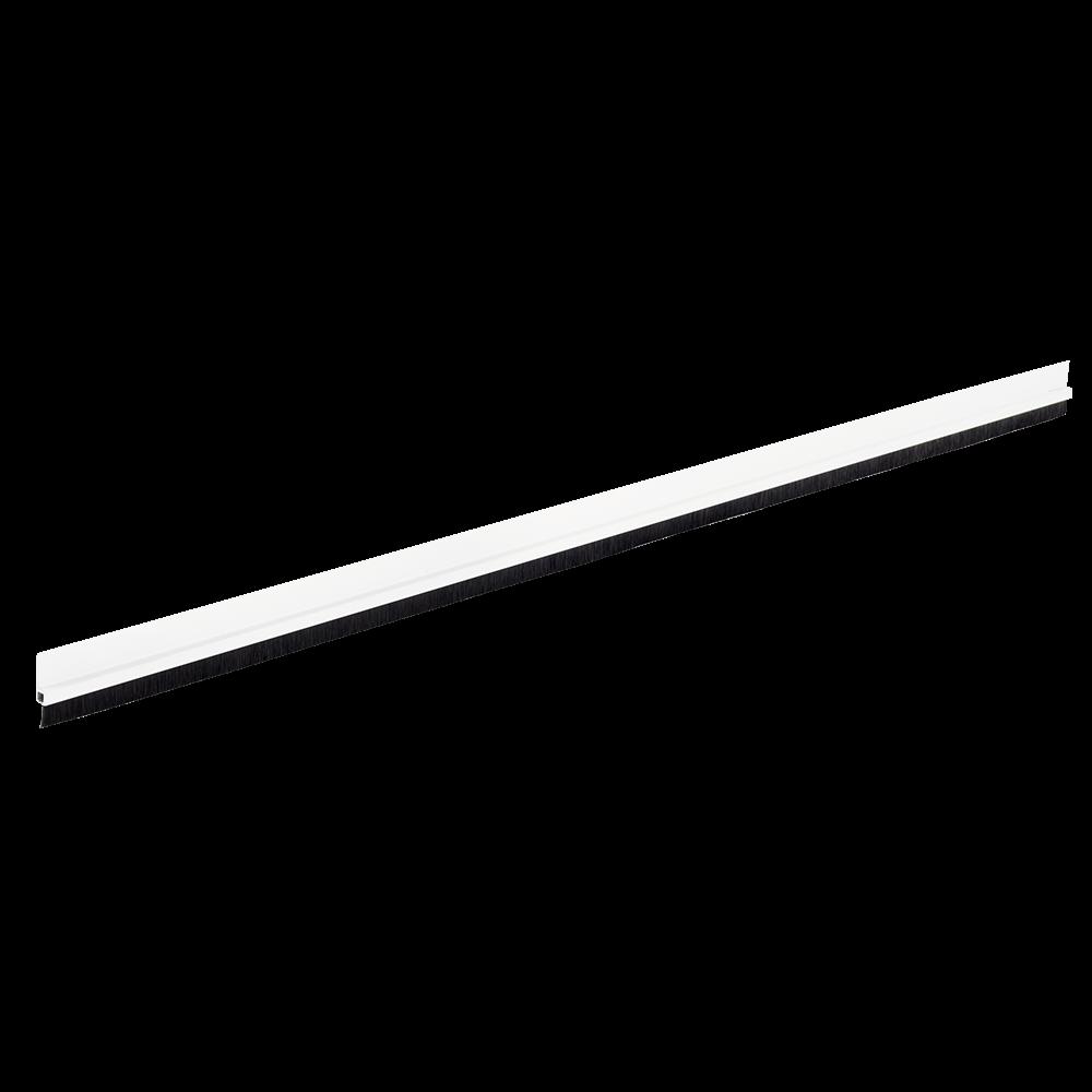 Prag izolator din aluminiu ALU FIX, cu perie, alb, L: 100 cm