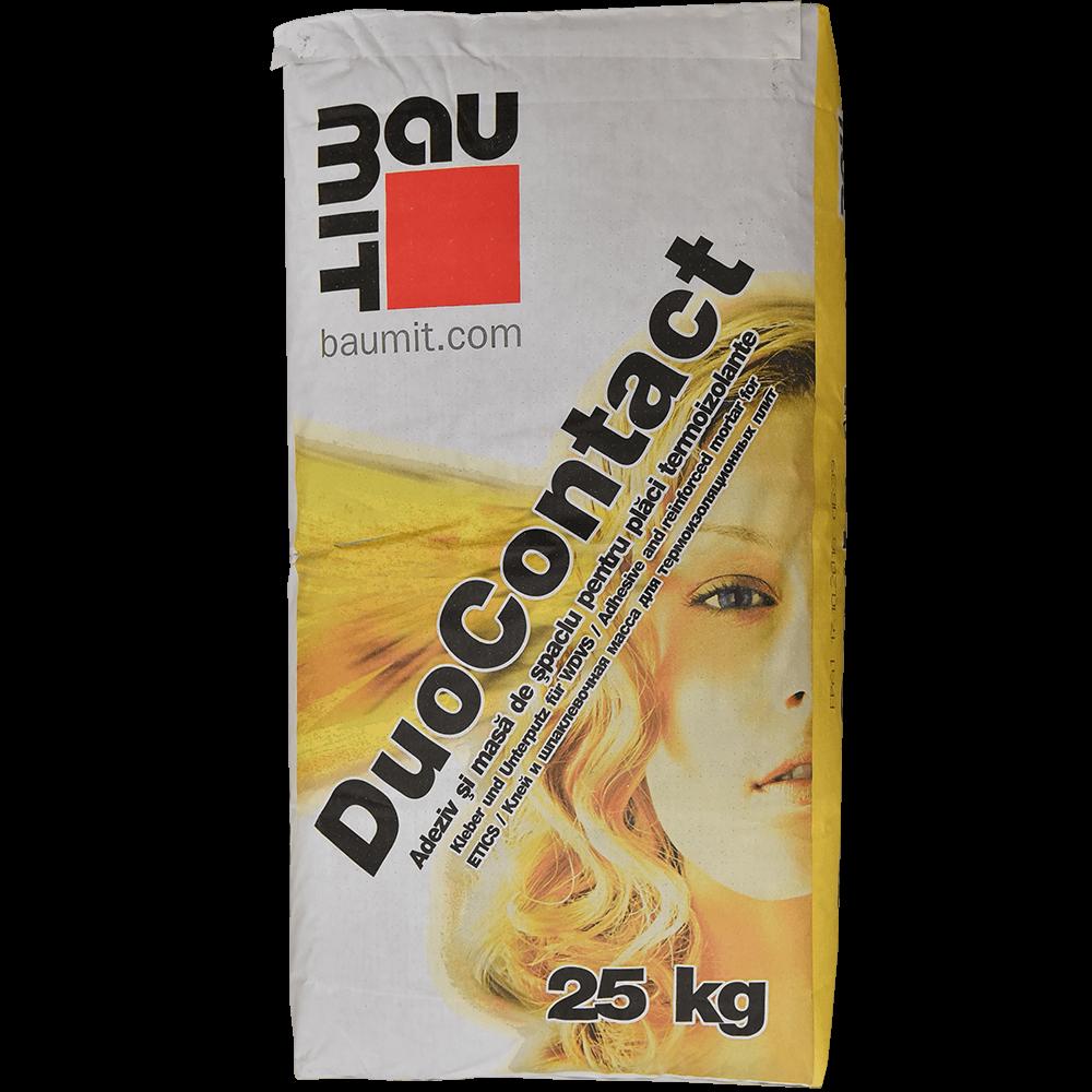 Adeziv si masa de spaclu pentru placi termoizolante Baumit DuoContact, 25 kg