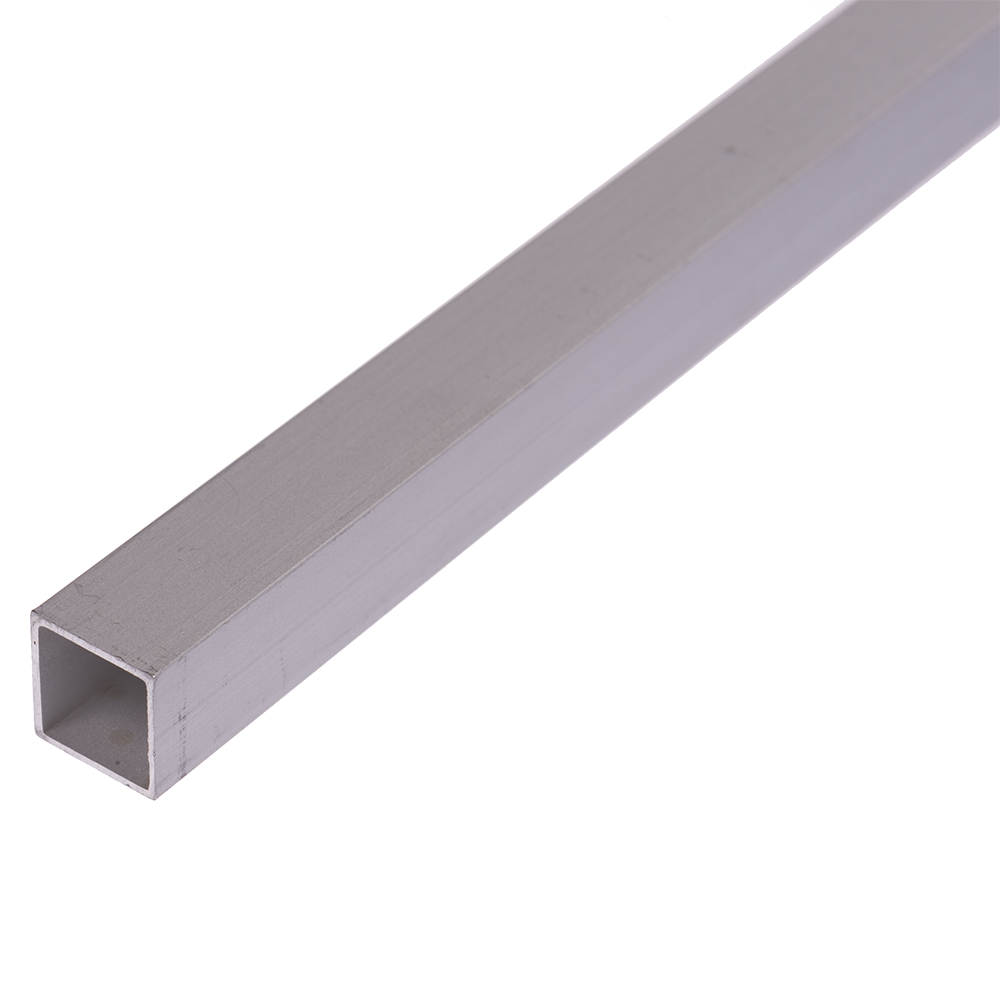 Teava patrata, aluminiu eloxat, 15 x 15 x 1 mm x 2 m imagine 2021 mathaus