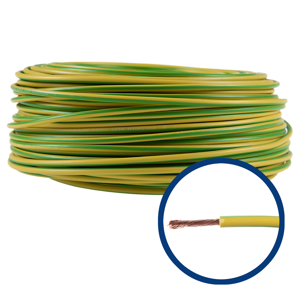 Cablu electric MYF (H05V-K) 4 mmp, izolatie PVC, galben-verde imagine 2021 mathaus
