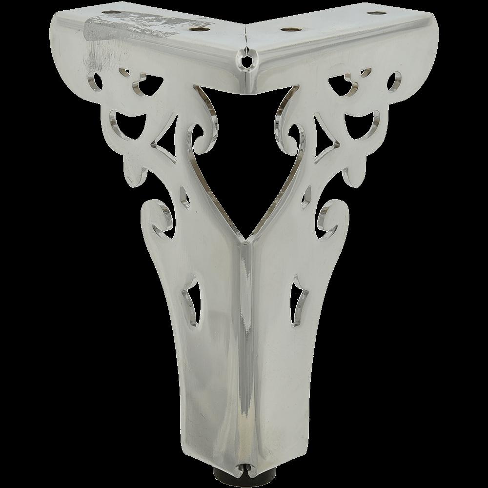 Picior metalic pentru canapea, cromat, H: 150 mm imagine MatHaus.ro