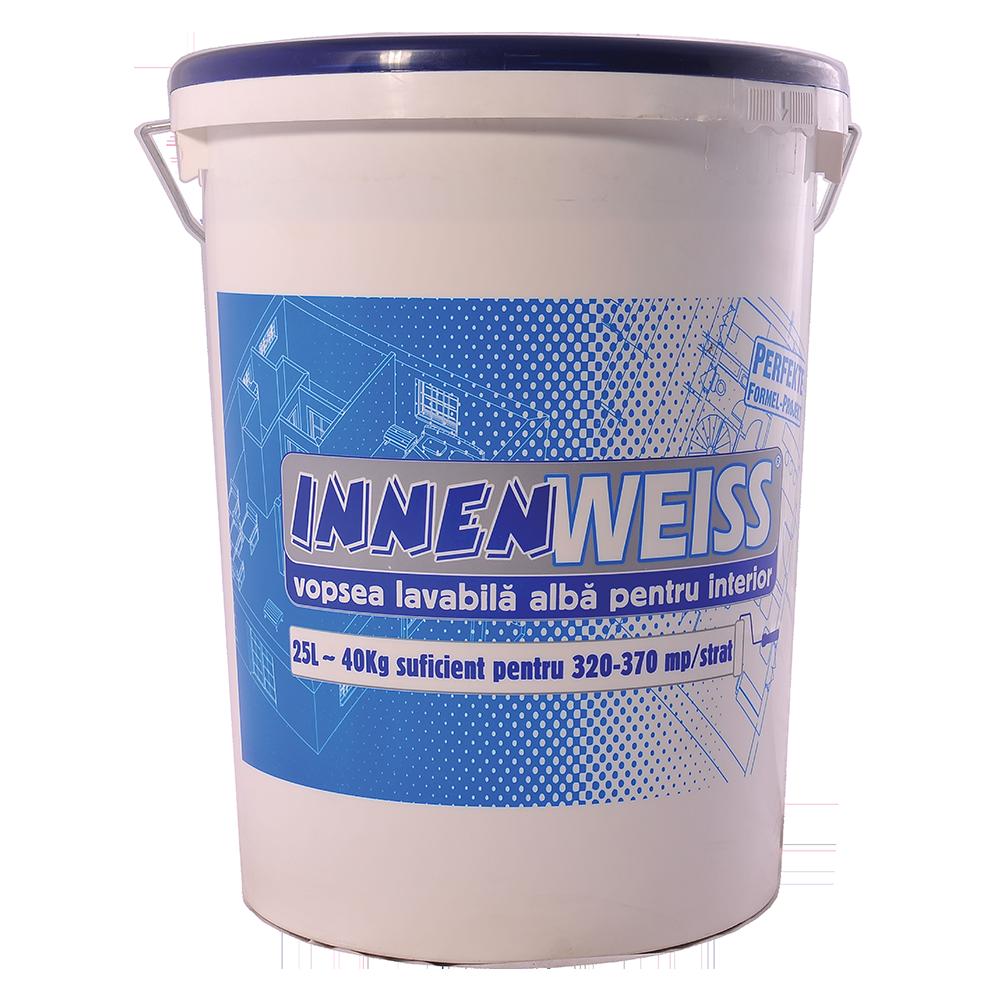 Vopsea lavabila interior, Innenweiss, alba, 25 L