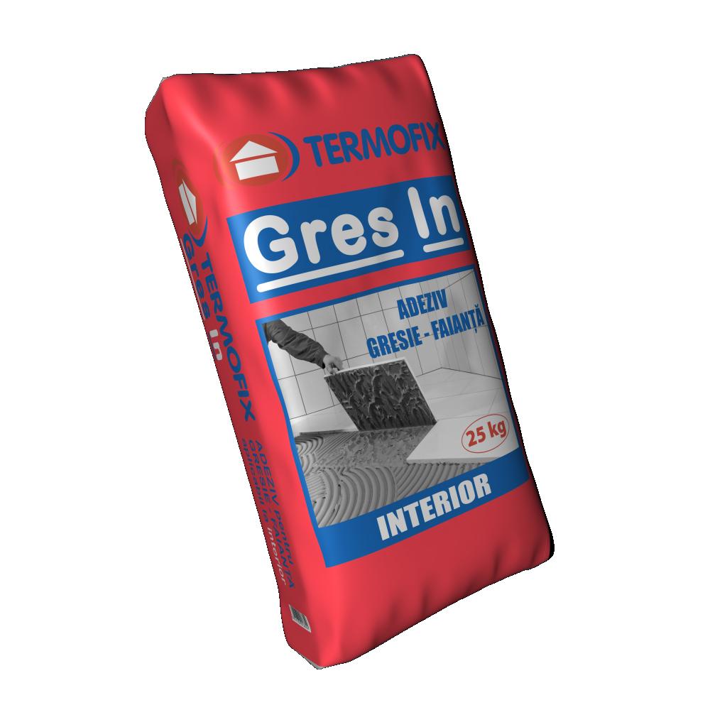 Adeziv placi ceramice absorbante Termofix Gres-In, pe baza de ciment, lipire la interior,  25 kg mathaus 2021