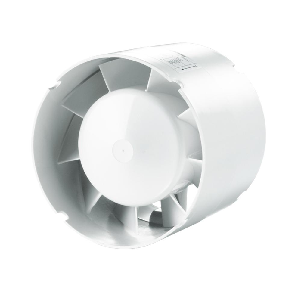 Ventilator tubulatura Vents VKO1, D 100 mm, 14 W, 2300 rpm, 107 mc/h, alb