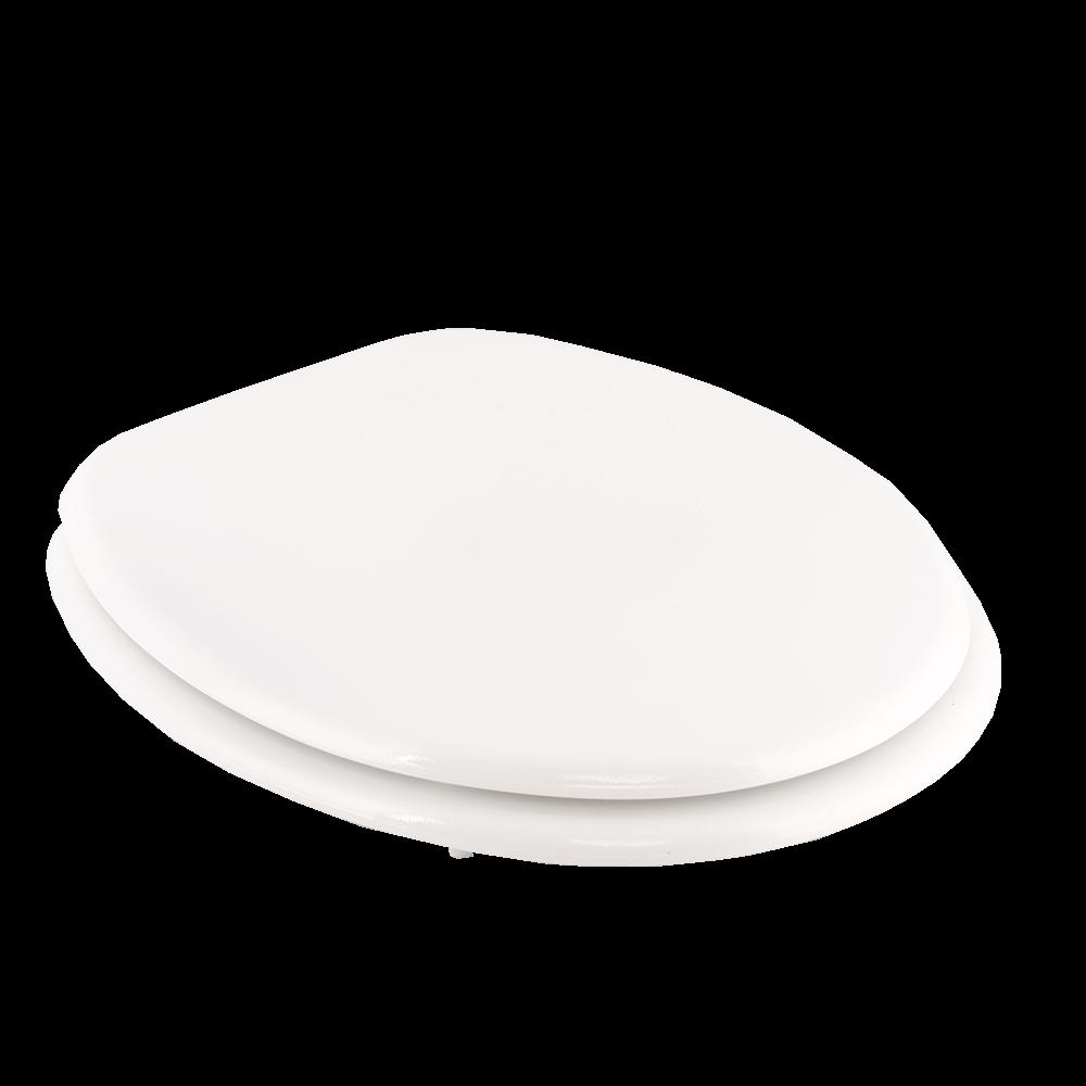 Capac pentru WC Regata P01, MDF, rotund, alb