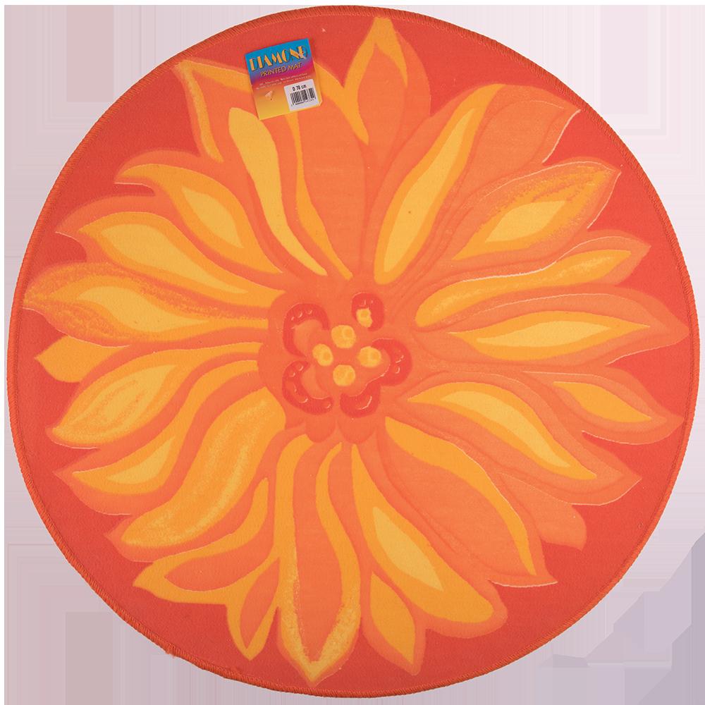 Covor modern print mat floare roz imagine MatHaus