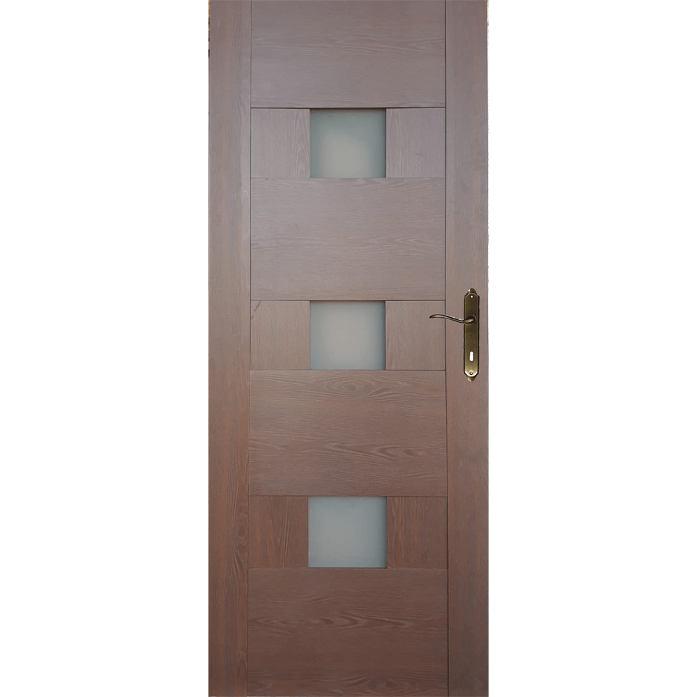 Usa interior cu geam M103, stejar auriu, 200 x 60 cm + toc 10 cm