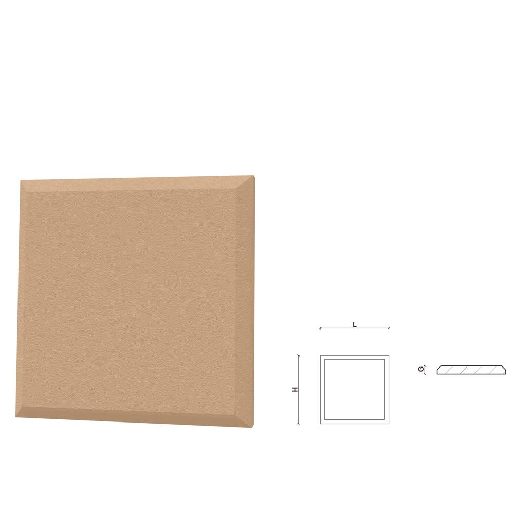Coltar decorativ pentru fatada FPCL03, polistiren EPS + rasina, 250 x 250 x 30 mm, crem mathaus 2021
