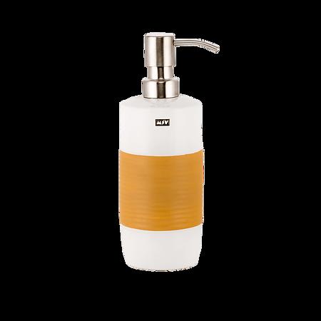 Dozator sapun lichid MSV Moorea, ceramica, portocaliu, 20,5 x 7,5 cm