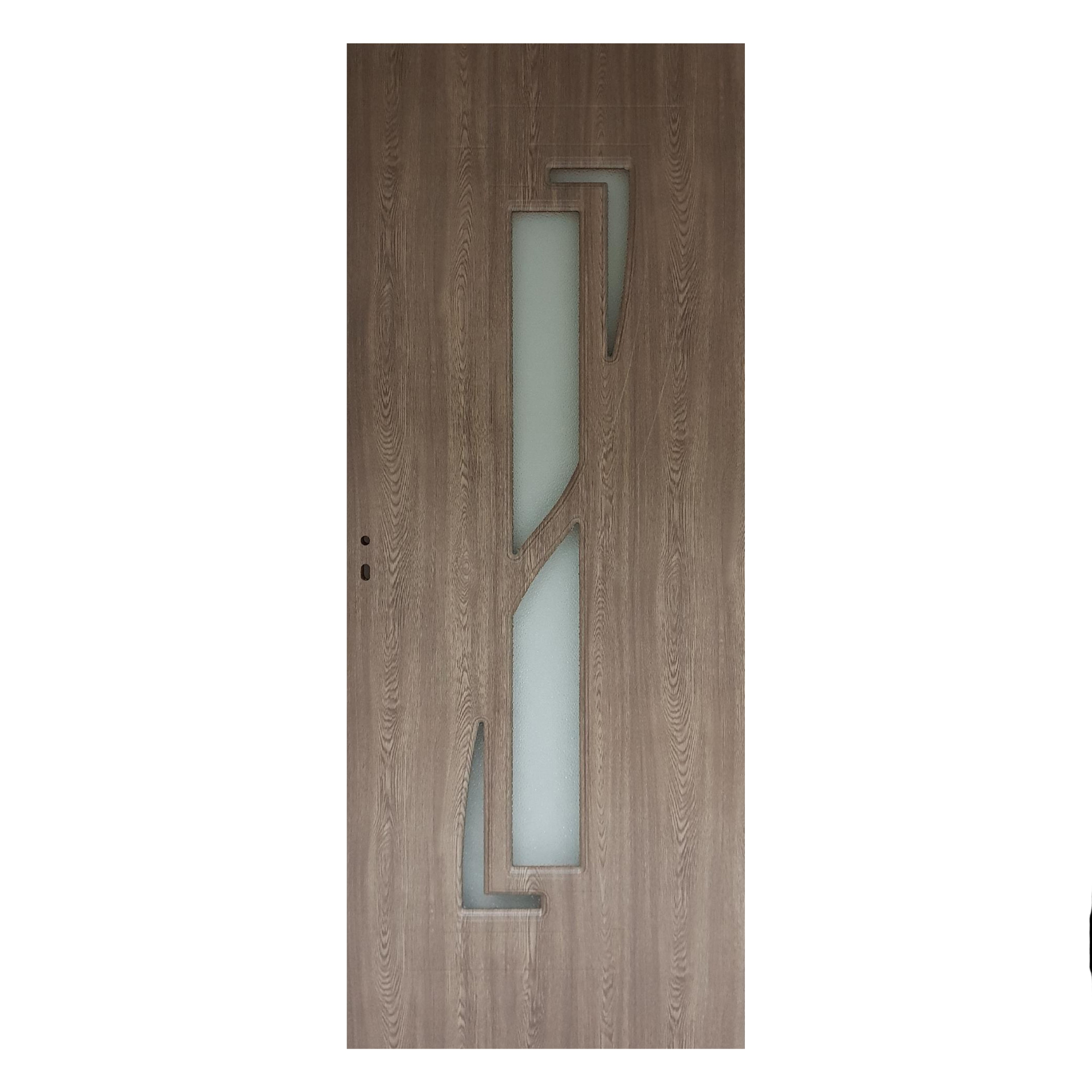 Usa interior cu geam Pamate M042, gri, 203 x 70 x 3,5 cm + toc 10 cm, reversibila mathaus 2021