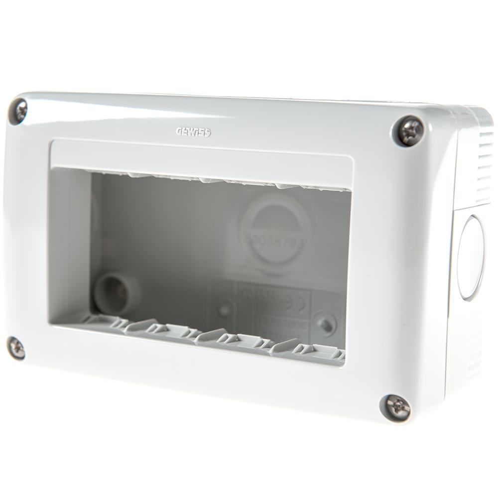 Carcasa montaj aparent Gewiss GW27004, 4 module, IP40, 132 x 82 x 45 mm imagine MatHaus.ro