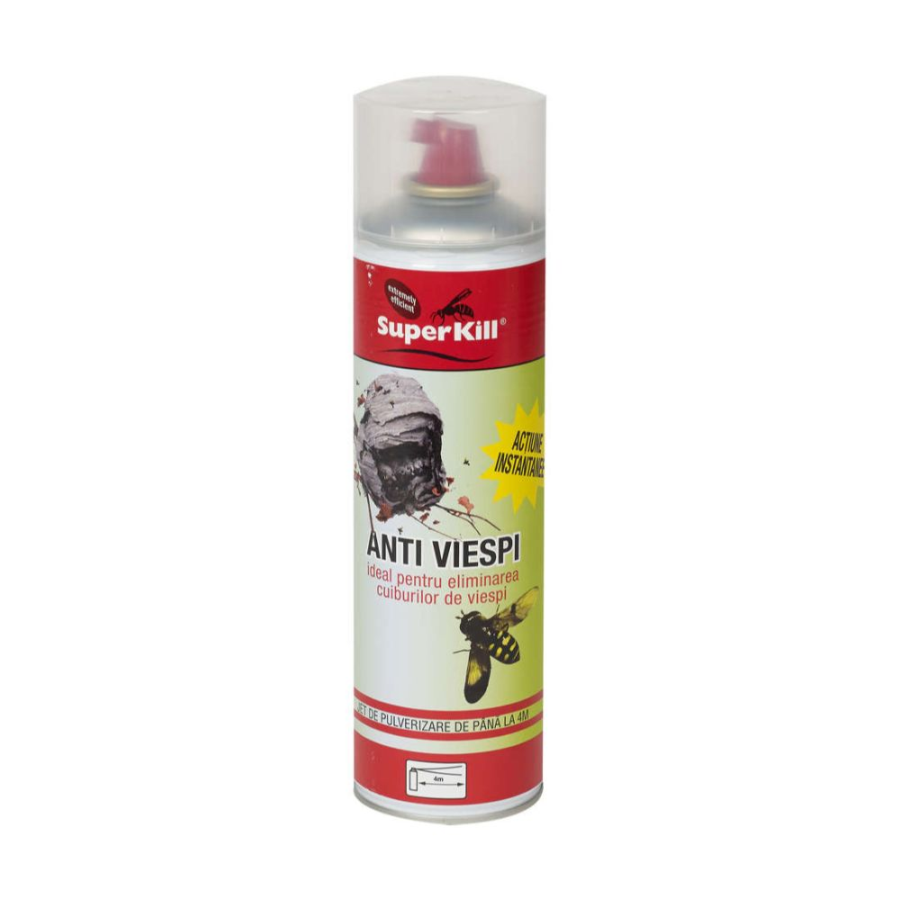 Spray insecticid anti-viespi Super Kill, efect imediat, 500 ml