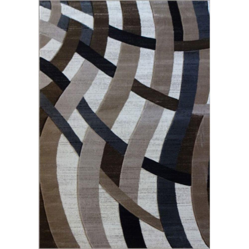 Covor modern Geo Hand Carved 7168, polipropilena heat set, model abstract bej/maro, 120 x 160 cm imagine 2021 mathaus