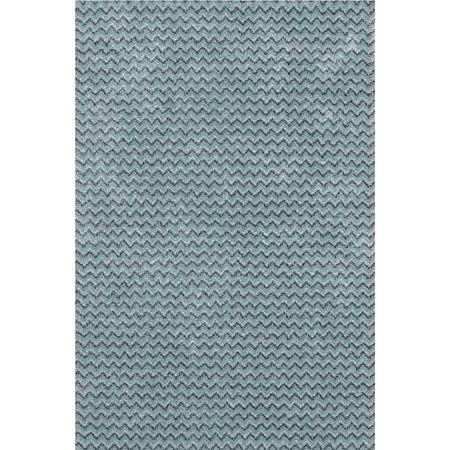 Covor modern Sintelon Stage 01 TMT, model elegant albastru-gri, polipropilena si poliester, 160 x 230 cm