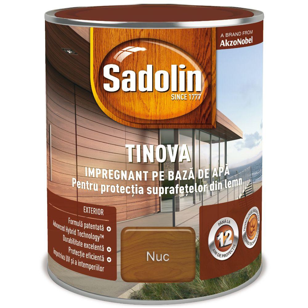 Impregnant pe baza de apa, Sadolin Tinova, pentru lemn, nuc, 0,75 l mathaus 2021