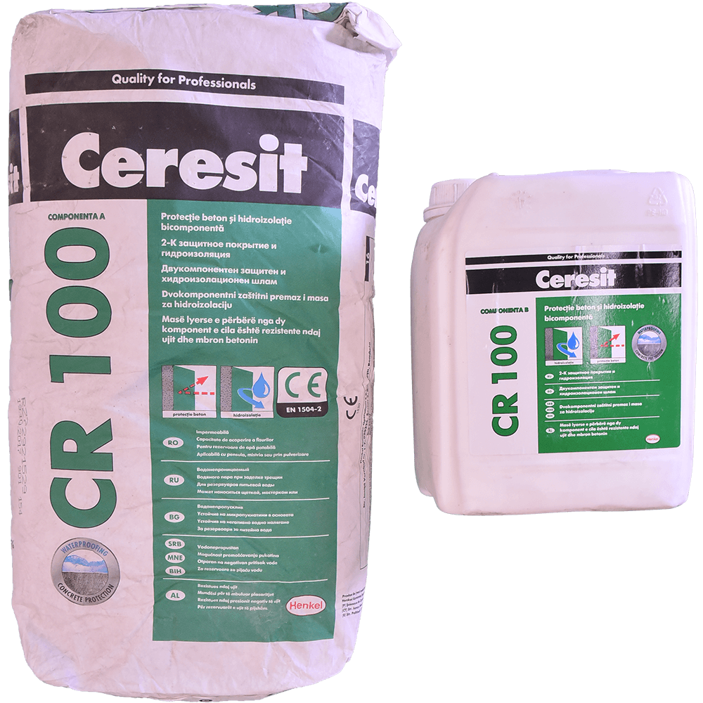 Mortar hidroizolant Ceresit CR100, semi-flexibil, bicomponet, 25 kg mathaus 2021