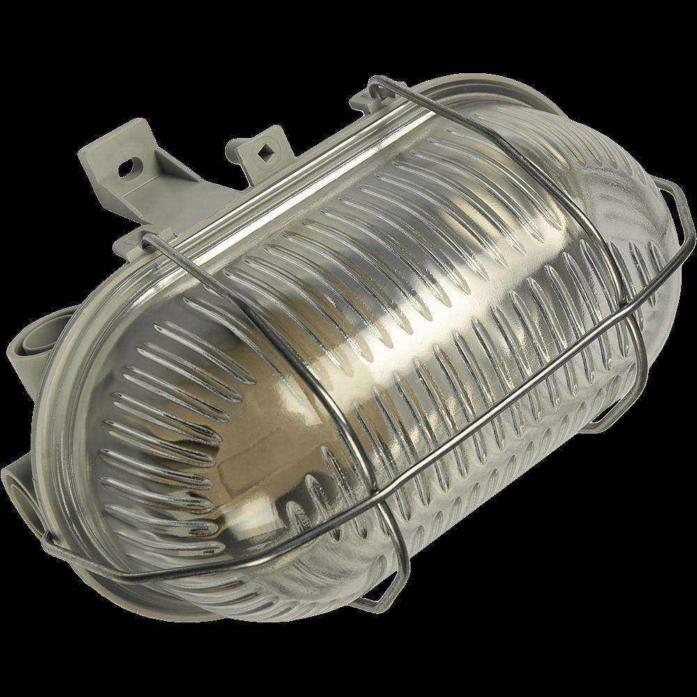 Aplica ovala cu protectie metal, E27, 100 W, IP44, Gri mathaus 2021