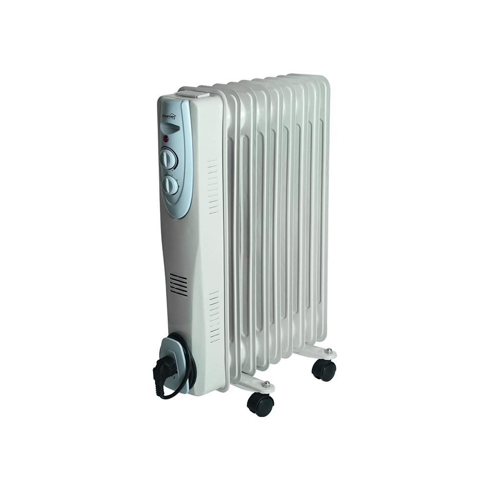Calorifer electric pe ulei Home by Somogyi FKOS 9, 1500 W, 9 elementi, 3 trepte incalzire, termostat mecanic, 12,5 x 60 x 45 cm imagine 2021 mathaus