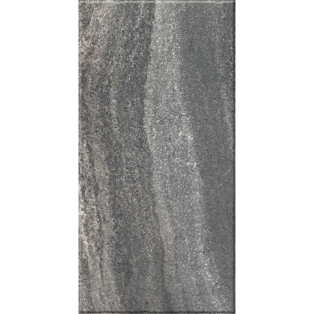 Gresie portelanata Kai Ceramics Santana antracit, gri inchis mat, aspect de piatra, dreptunghiulara, 30 x 60 cm imagine MatHaus.ro