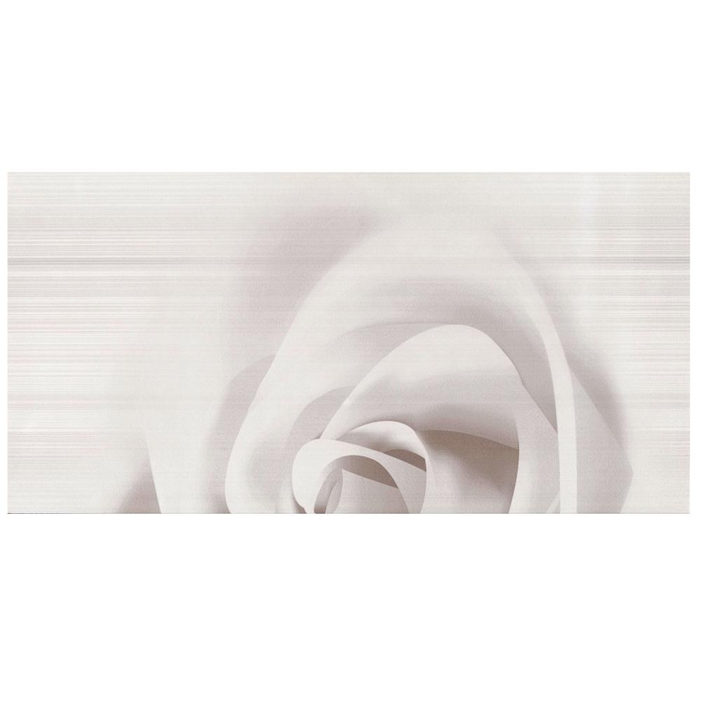 Decor de faianta pentru interior, alb-gri, C Stripes, set 2 bucati, 25 x 50 cm