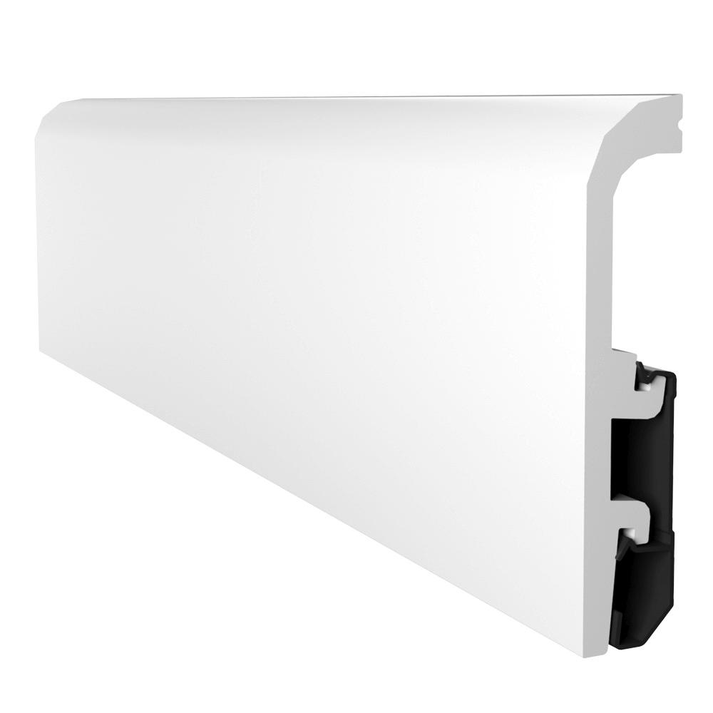 Plinta podea, duropolimer, alb, Vega P1020, 2400x100x20 mm imagine MatHaus