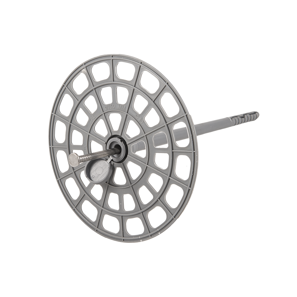 Ansamblu fixare vata bazaltica, 160 mm, flansa + diblu + cui imagine MatHaus