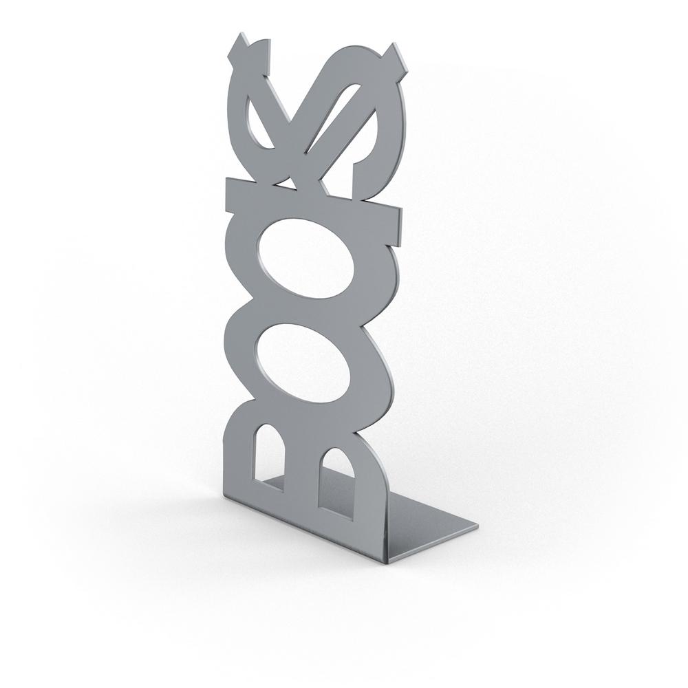 Suport pentru carti BOOKS, argintiu, 120 x 110 x 210 mm mathaus 2021