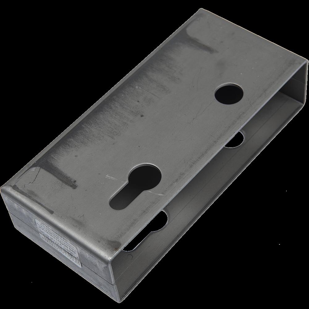 Carcasa de protectie, din metal, pentru broasca de poarta, h 21 mm