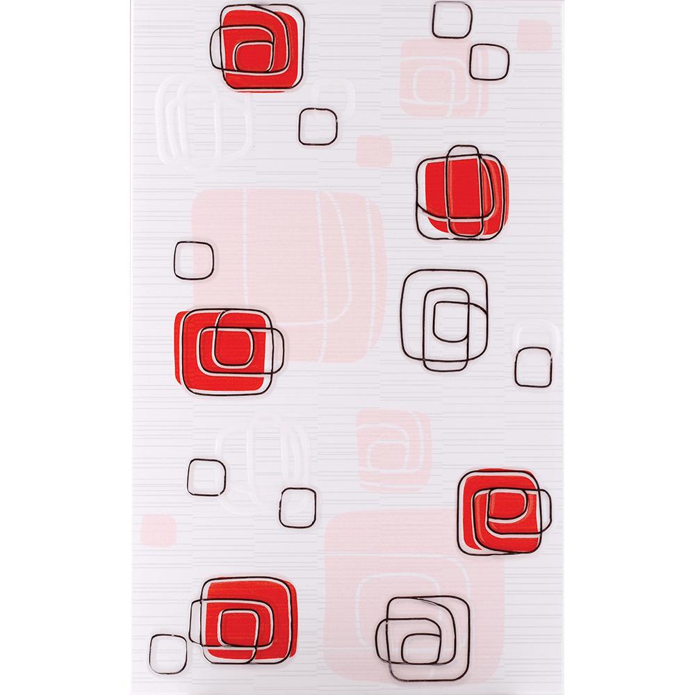Faianta decorativa Kai Ceramics Linea, rosu, finisaj estetic, 25 x 40 cm