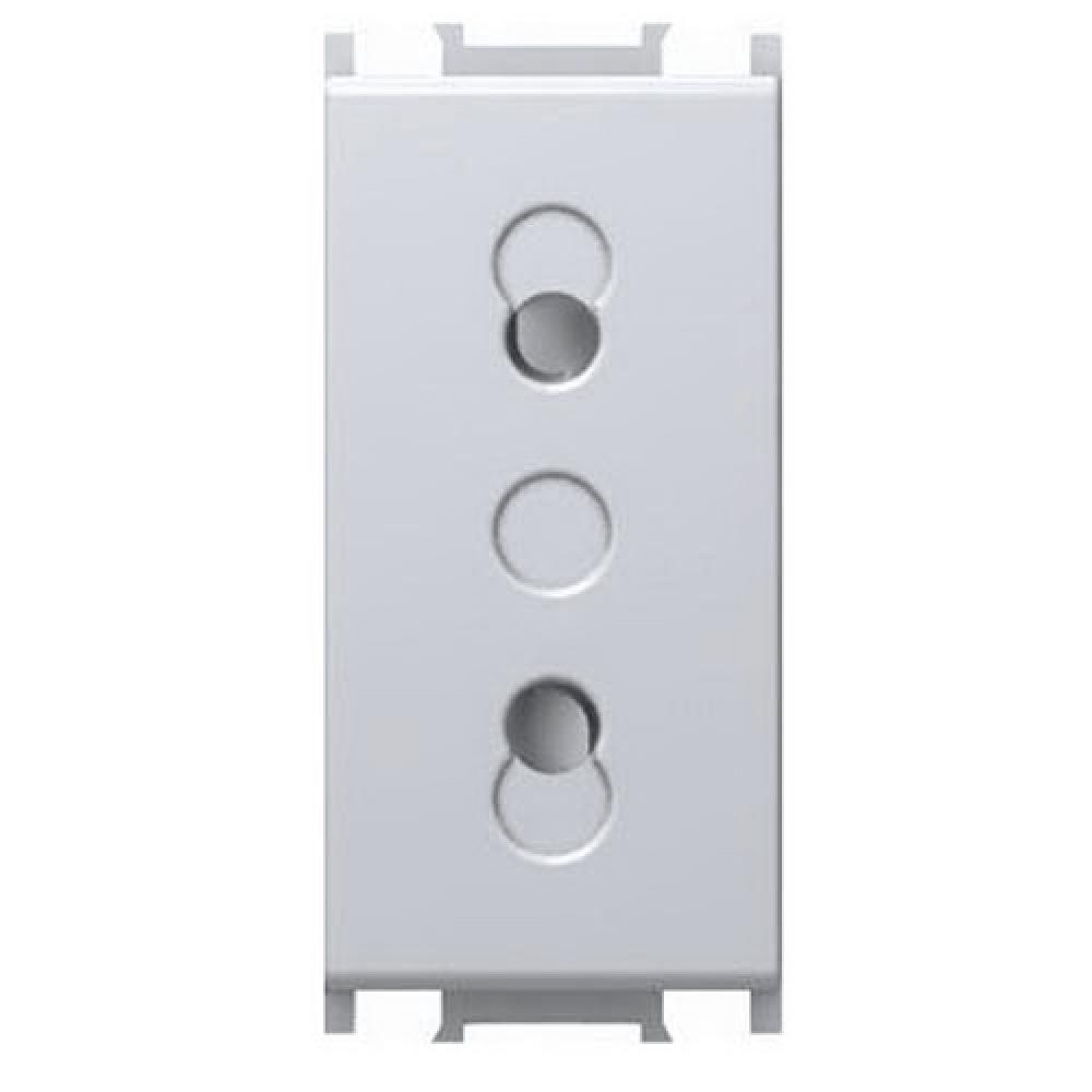 Priza simpla CP Modul, 1m alb imagine 2021 mathaus