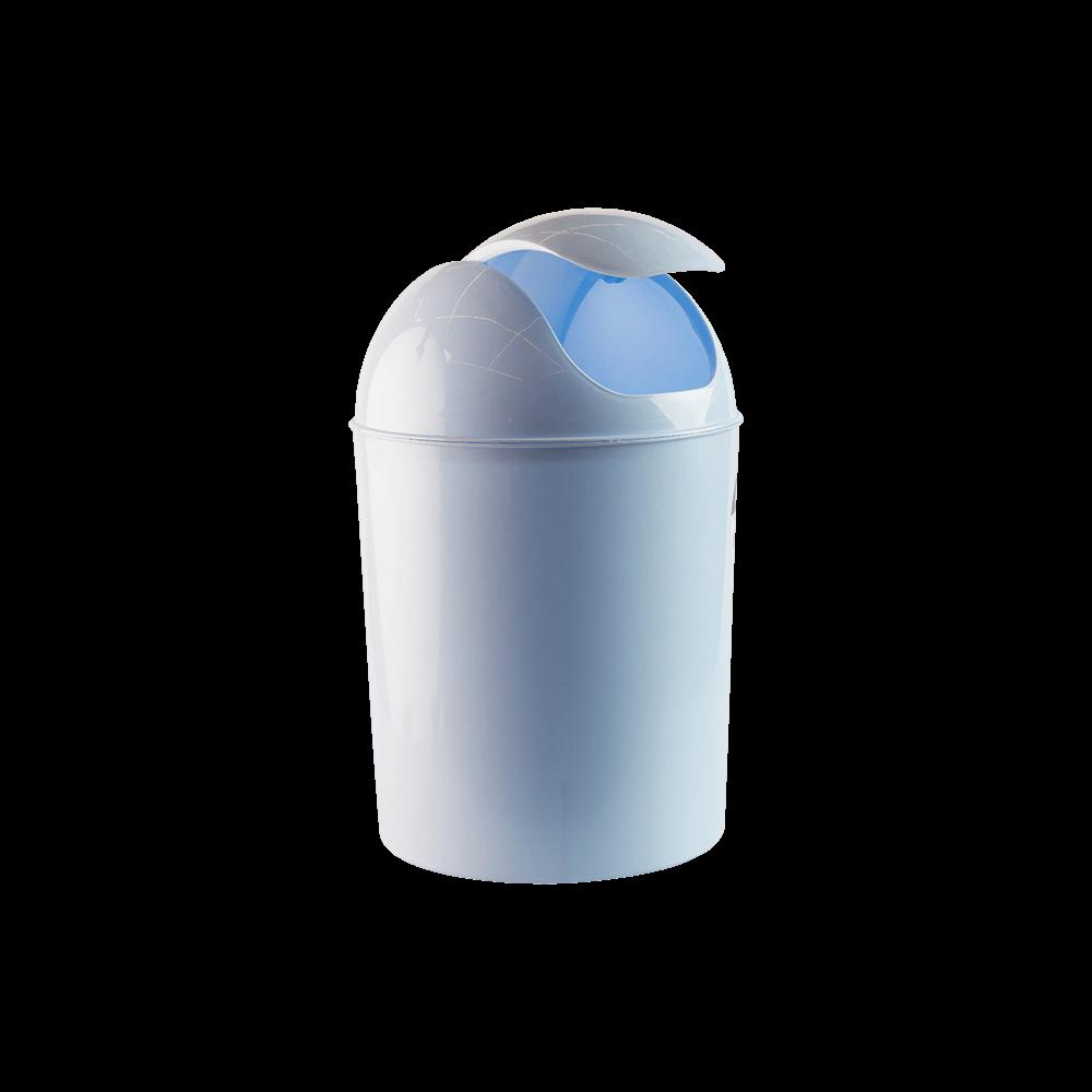 Cos gunoi batant, plastic, bleu, 3 l