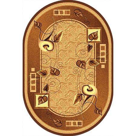Covor clasic Gold 320/12 O, polipropilena BCF, bej-maro, 50 x 80 cm