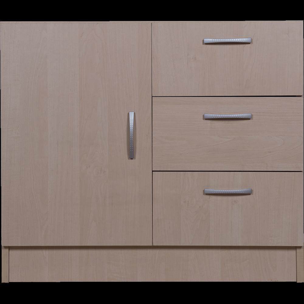 Comoda pal melaminat, mesteacan, 3 sertare, 45 x 80 x 70 cm mathaus 2021
