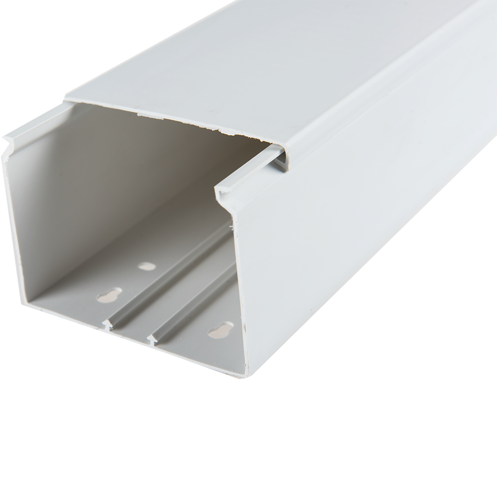 Canal cablu 80 x 60 mm, 2 m, alb, PVC ignifugat