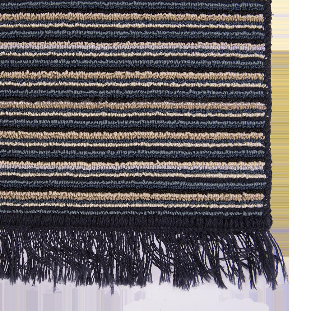 Covor bucatarie Niagara, 100% polipropilena, model cu dungi albastru-bej, 125 x 200 cm imagine 2021 mathaus