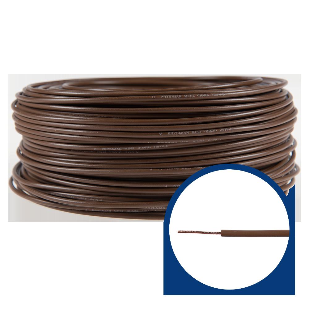 Cablu electric FY/ H07V-U 1,5 mm maro