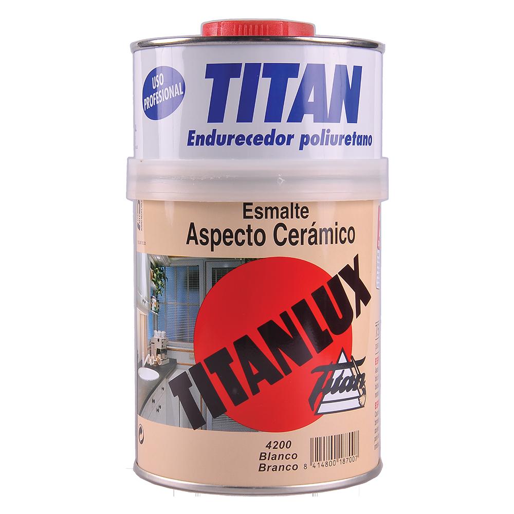 Email aspect ceramic Titan Titanlux, alb satinat, interior/exterior, 0,75l imagine MatHaus.ro