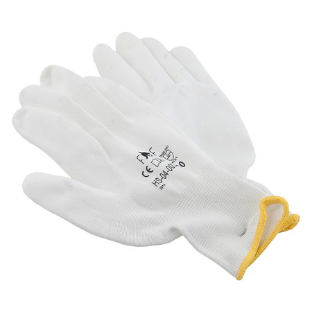 Manusi de protectie Dalgeco Sensor 1464, poliuretan + nailon, marimea 10, alb