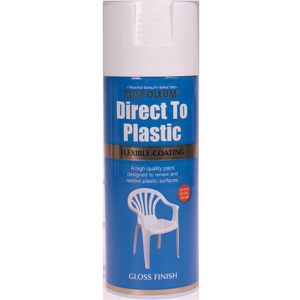 Spray direct pe plastic alb lucios 400 ml