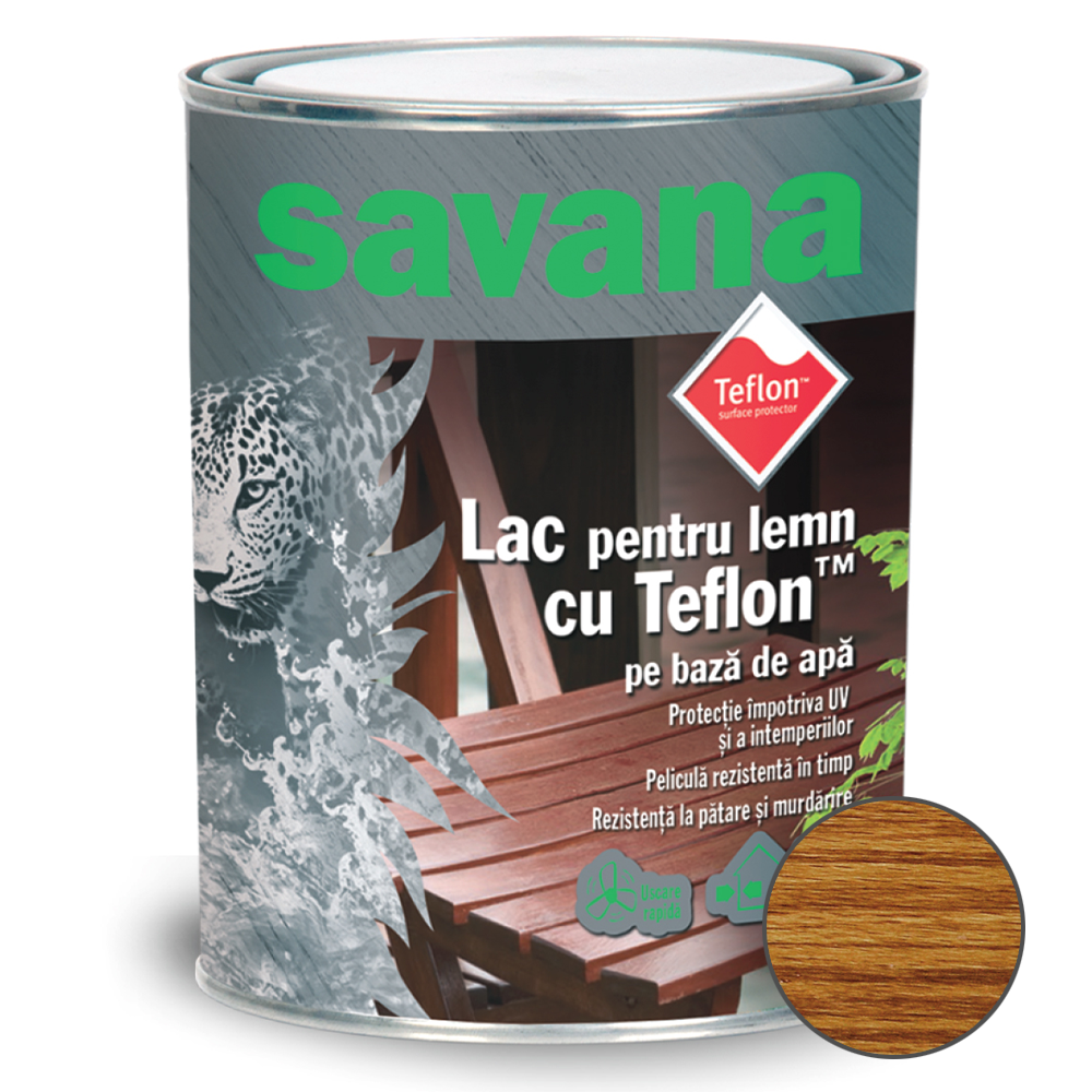 Lac acrilic Savana pe baza de apa Stejar 2,5 L