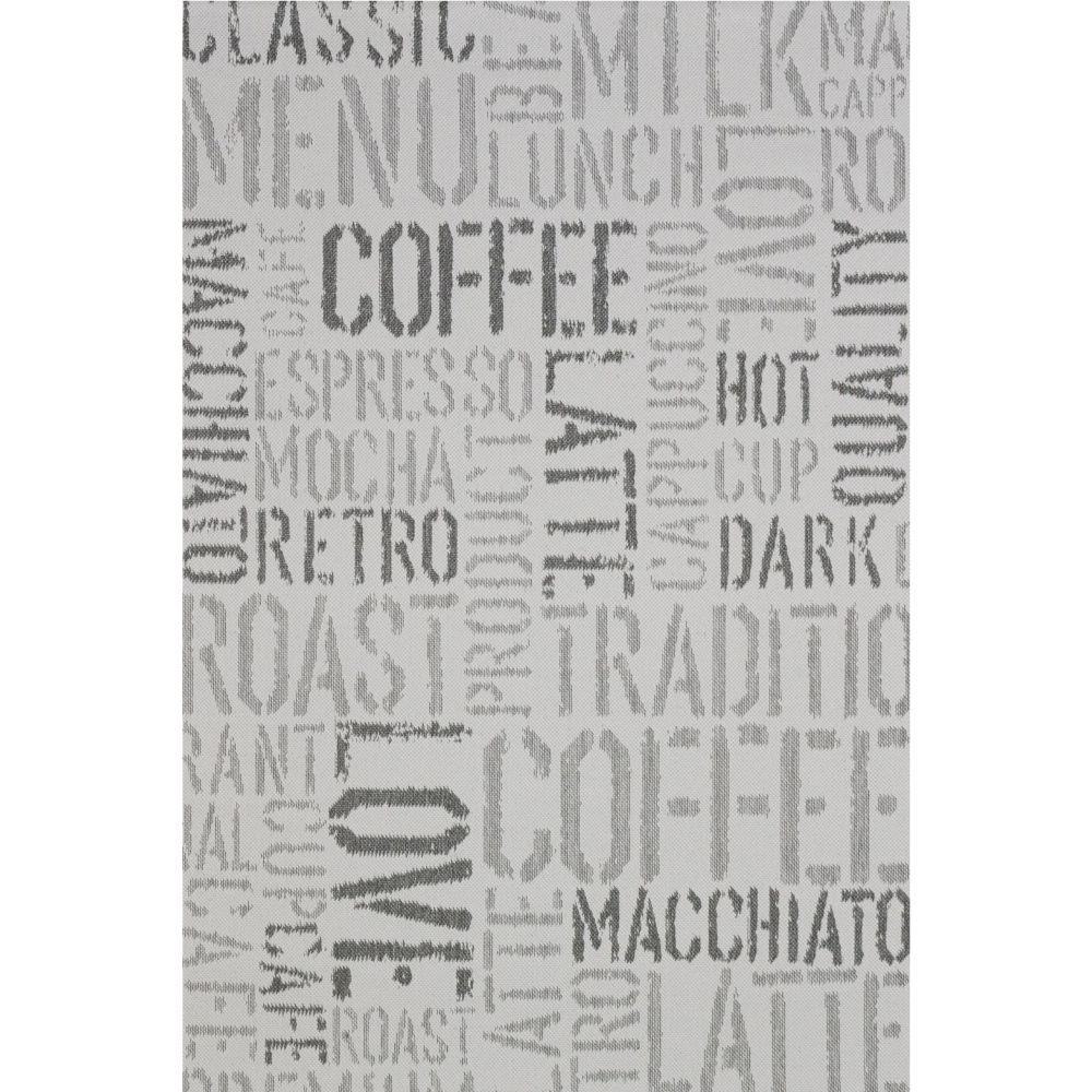 Covor modern Sintelon Adria 37SGS, polipropilena, model text gri, 120 x 170 cm imagine 2021 mathaus