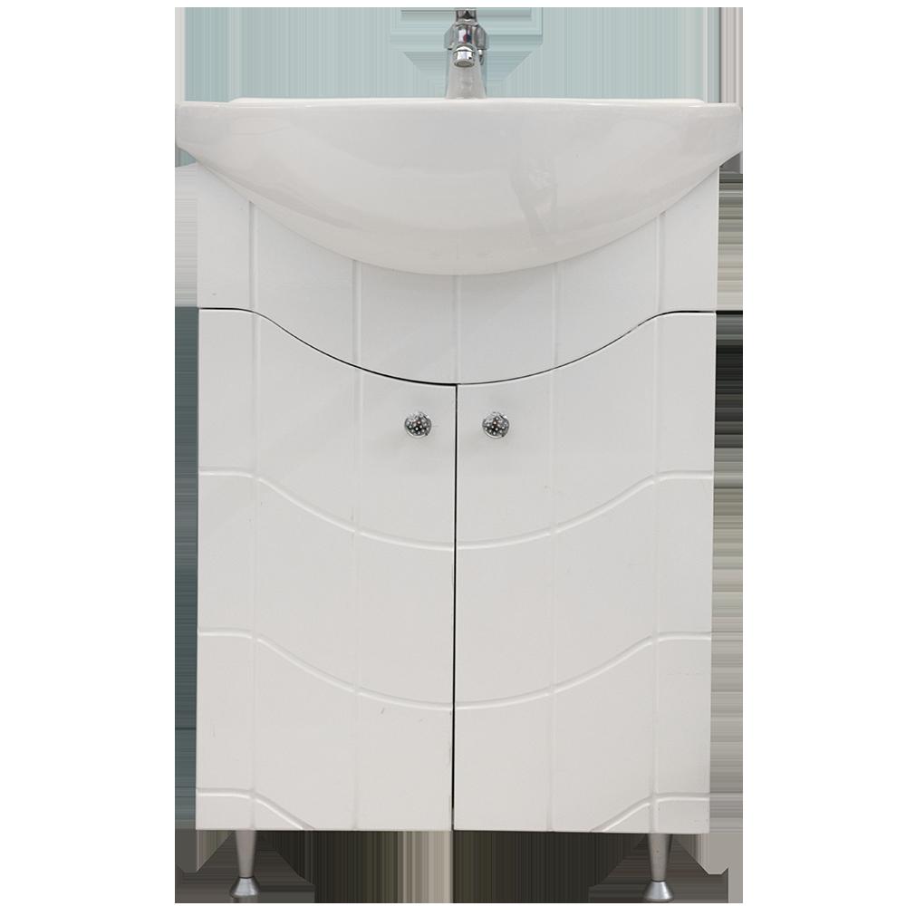 Mobilier baie, baza lavoar Britney, alb, 520 x 290 x 810 mm, 27 kg