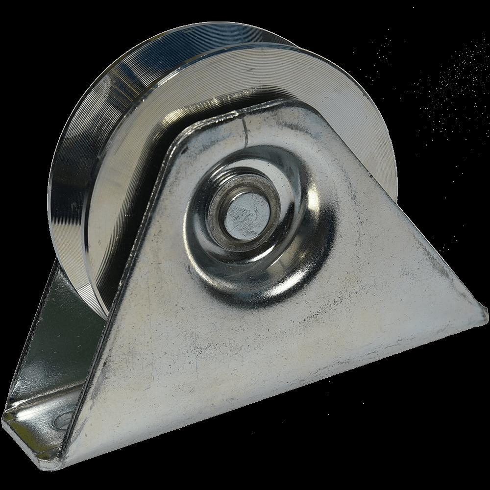 Rola zincata aplicata cu rulment, profil V, D: 78 mm