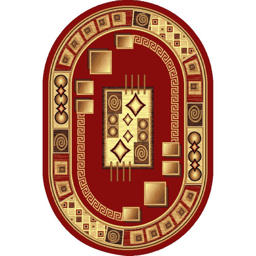 Covor clasic Gold 364/22, polipropilena BCF, bej-rosu, 60 x 110 cm imagine 2021 mathaus