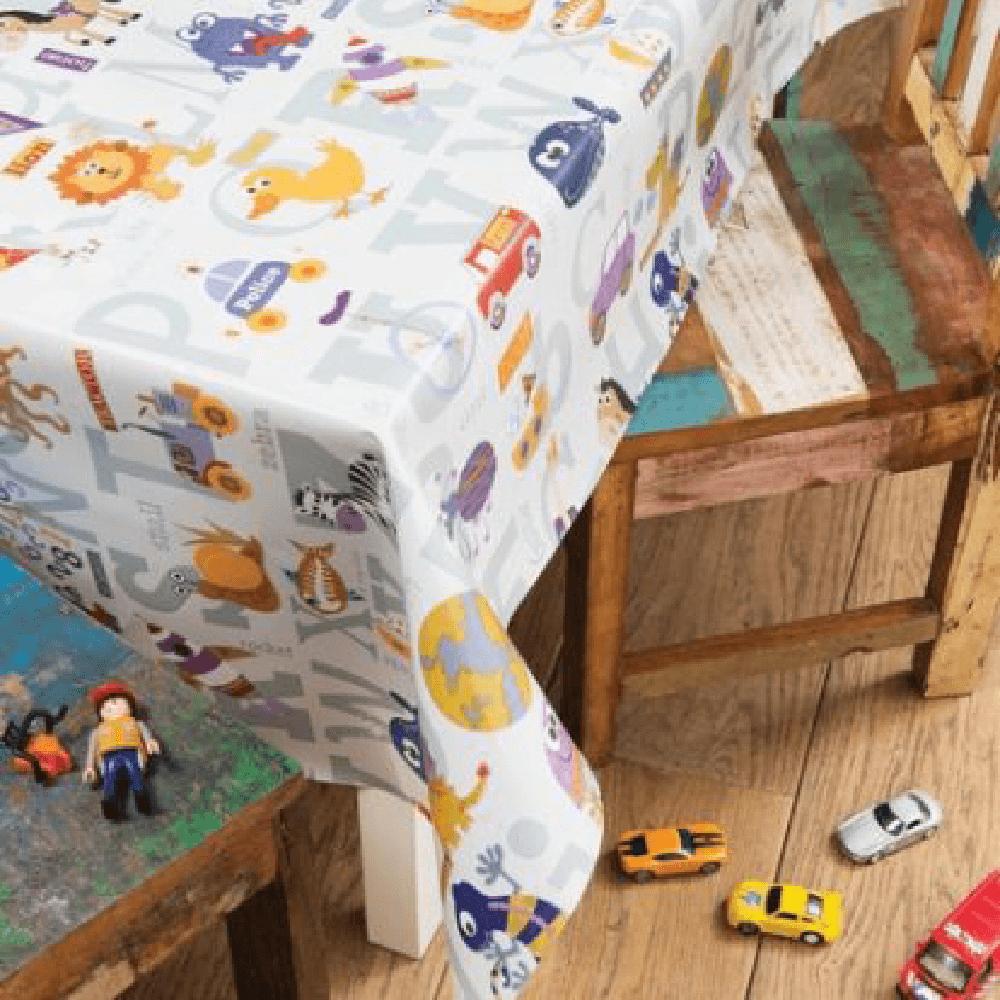 Fata de masa, model pentru copii, pvc, multicolor, 140 cm
