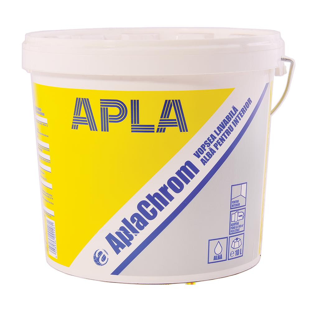 Vopsea lavabila alba, pentru interior, Alpachrom, 15L mathaus 2021